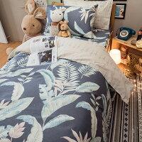 居家生活純棉 床包 被套 兩用被 床組 單人/雙人/加大/kingsize床包 [ 天堂島叢林 ] 台灣製造 棉床本舖 好窩生活節。就在棉床本舖Annahome居家生活