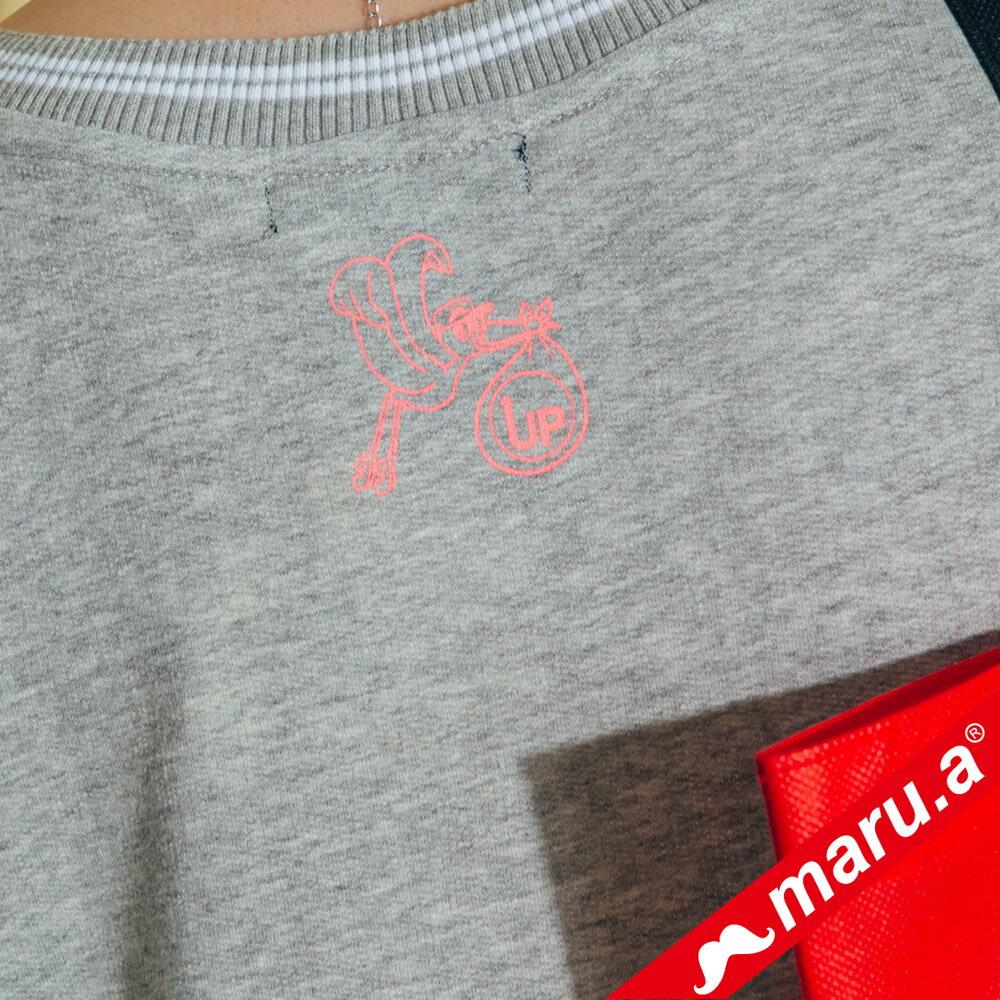 【maru.a】繽紛拼貼荷葉邊長版上衣(2色)8321315 5