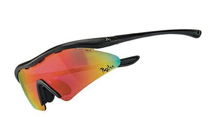 露營趣:【露營趣】720armourRiderT337Lite-46彎防爆PC片單車眼鏡運動太陽眼鏡防風眼鏡運動眼鏡自行車眼鏡灰紅色多層鍍膜