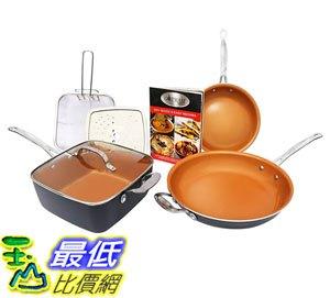 [8美國直購] 陶瓷鍋鈦合金不沾鍋 Gotham Steel 1371 Tastic Bundle 7 Piece Cookware Set Titanium Ceramic Pan, Copper - 限時優惠好康折扣