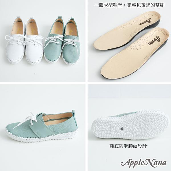 輕便綁帶真皮氣墊鞋。小白鞋【QT70021080】AppleNana蘋果奈奈 3