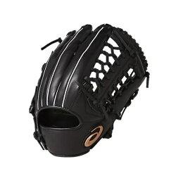 ASICS 亞瑟士 棒球手套 DIVE 軟式手套 (外野手用) 3121A134-001 黑 左手用 [陽光樂活=]