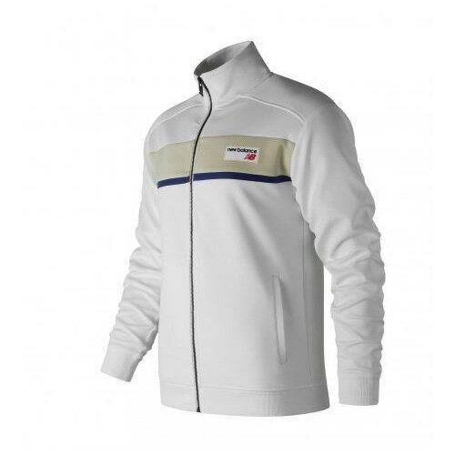 NewBalance男裝外套休閒復刻針織橫條白【運動世界】AMJ81551WT