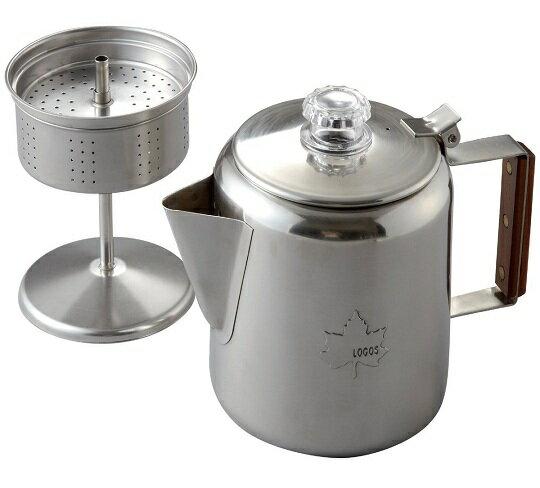 LOGOS 日本 | 不鏽鋼咖啡壺(6杯) | 秀山莊(LG81210300)