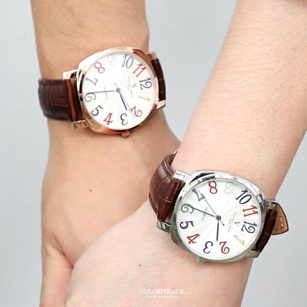 范倫鐵諾˙古柏彩色數字手錶柒彩年代【NEV58】原廠公司貨