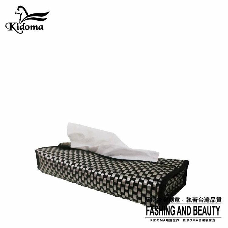 Kidoma 獨家編織防水/面紙盒S系列-黑銀 面紙套 紙巾套 紙巾盒/適用抽取式 台灣製造