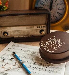 幸福森林:木製發條式選轉音樂盒客製化禮物-摩羯座男孩