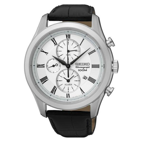 Seiko CS系列7T62-0LJ0W(SNAF69P1)簡約質感時尚計時腕錶/白面42mm