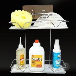 派樂 衛浴廚房無痕掛架(1入內附2片塑膠板) 廚房浴室收納 置物架 收納架 不留殘膠 適用免鑽孔鑽洞牆壁快速安裝