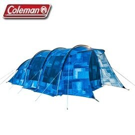 [Coleman]INDIGOLABEL隧道式2-ROOM丹寧藍帳篷公司貨CM-32597