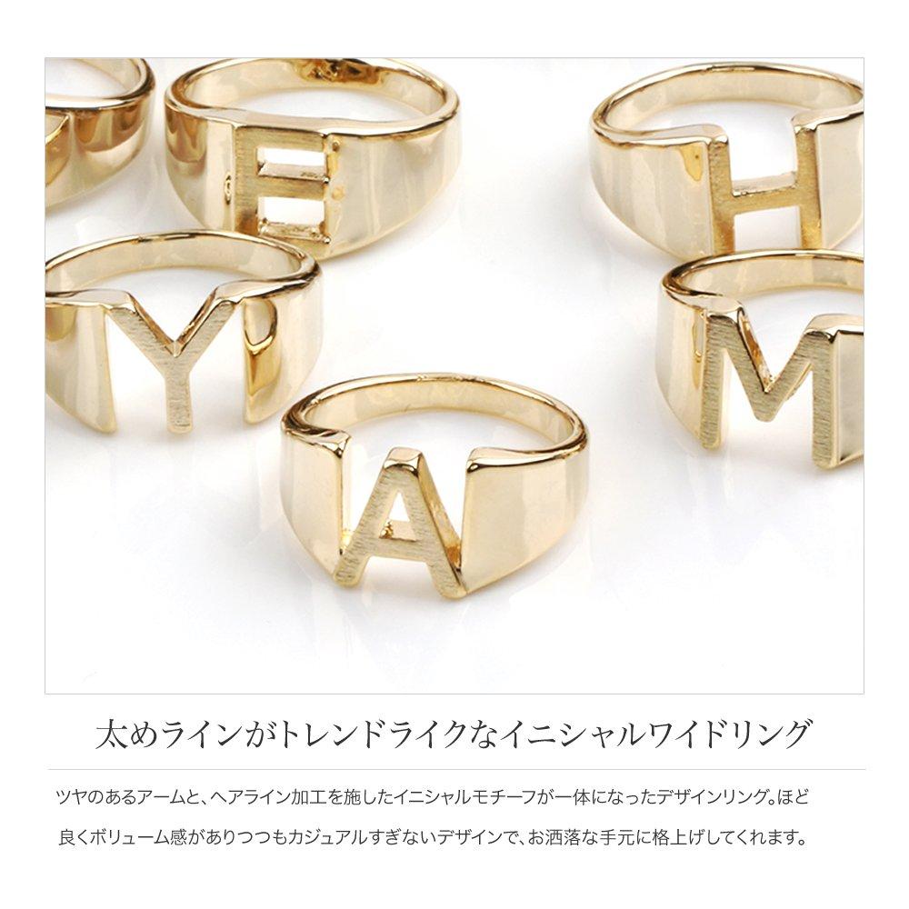 日本CREAM DOT  /  リング 指輪 レディース 15号 ワイドリング ファッションリング イニシャル ヘアライン加工 大人カジュアル シンプル 可愛い ゴールド シルバー  /  a03578  /  日本必買 日本樂天直送(1290) 2