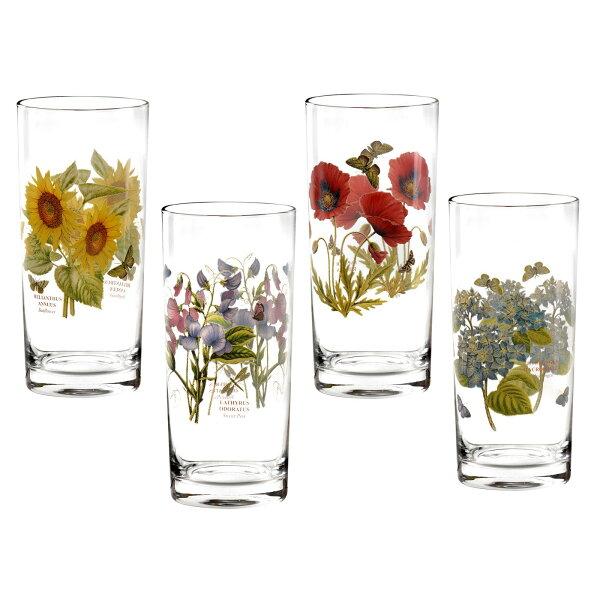 英國Portmeirion植物園4入420ml果汁玻璃杯禮盒組