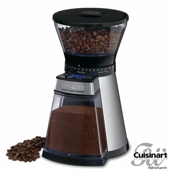 Cuisinart 美國美膳雅數位圓錐式咖啡研磨器CBM-18NTW
