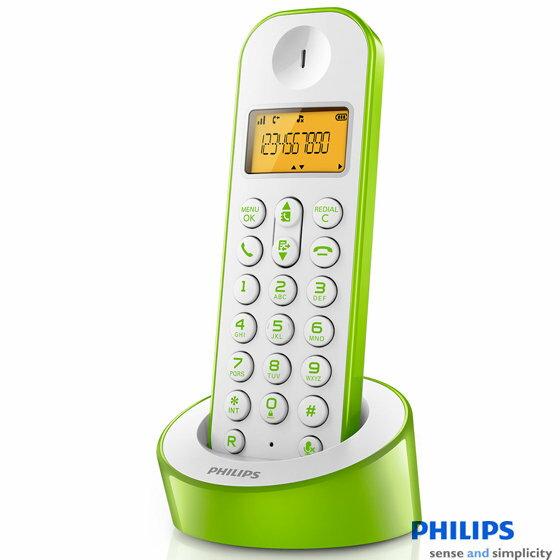 PHILIPS 飛利浦 數位無線電話 D1201 / D1201WN 綠色款