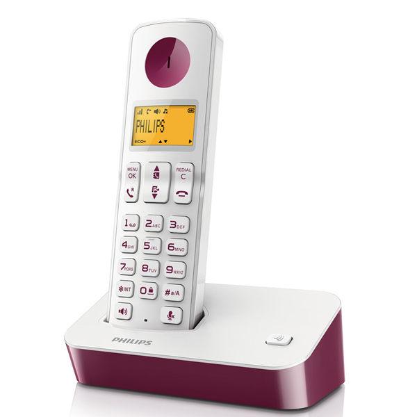 PHILIPS 飛利浦 數位無線電話 D2001 / D2001WP 紫色
