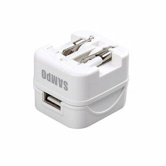 SAMPO聲寶 USB萬國充電器轉接頭-白色 EP-UC0BU2