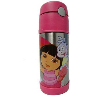 THERMOS 膳魔師 370ml不鏽鋼朵拉桃紅色保冷瓶(附吸管背帶) F4008DR6 **可刷卡!免運費**