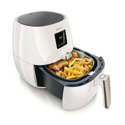◤贈食譜+油切煎烤盤+烤架+密封罐◢ PHILIPS 飛利浦 免油健康氣炸鍋 HD9230 / HD-9230 (白色)