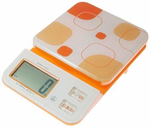 日本 DRETEC 多利科 幾何圖形料理電子秤 KS-221-OR 橘色款