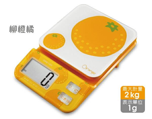 日本 DRETEC 多利科 幾何圖形料理電子秤KS-221 -ORKO柳橙橘