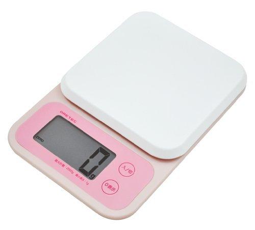 日本 DRETEC 『 Mousse幕斯 』大螢幕廚房電子料理秤 / 電子秤 KS-251-PK -粉色