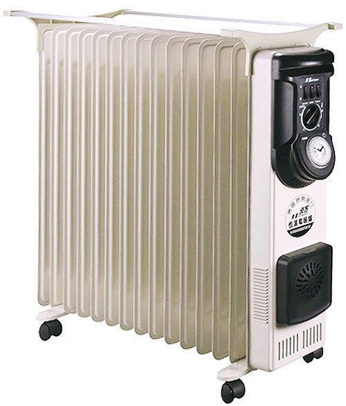 北方 NORTHERN 葉片式恆溫電暖器15葉片5段式電暖爐-NR-15ZL / NP-15ZL