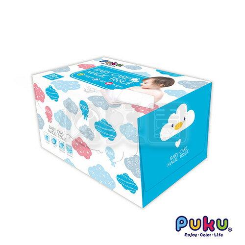 Puku 藍色企鵝 抽取式嬰幼兒乾濕兩用巾(80抽)【悅兒園婦幼生活館】