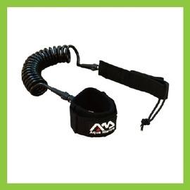 【sup螺圈腳繩-7mm粗螺圈形軟線-8吋長-1套/組】樂划SUP槳板系列專用腳繩滑水板安全繩划水板專用螺圈形安全腳繩-76033