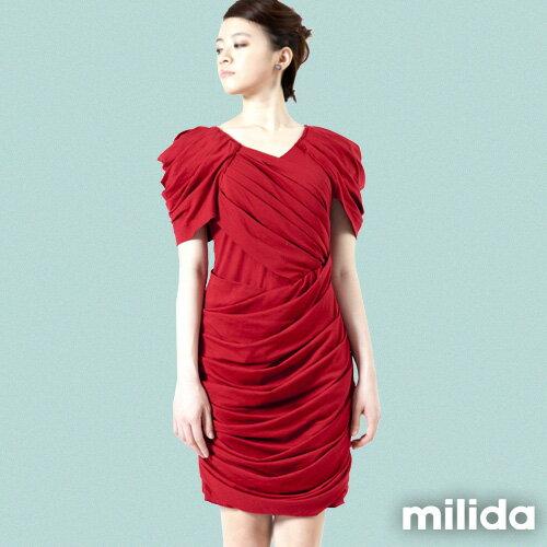 【Milida,全店七折免運】-夏季洋裝-造型款-甜美公主袖設計 0