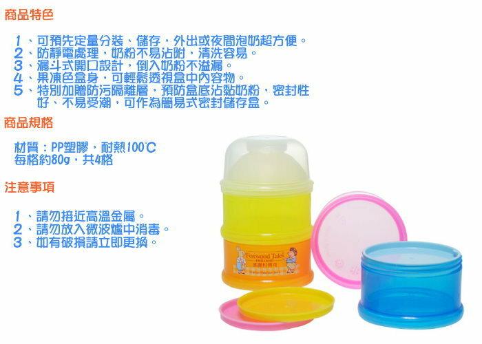 『121婦嬰用品館』狐狸村 定量透明奶粉盒 1