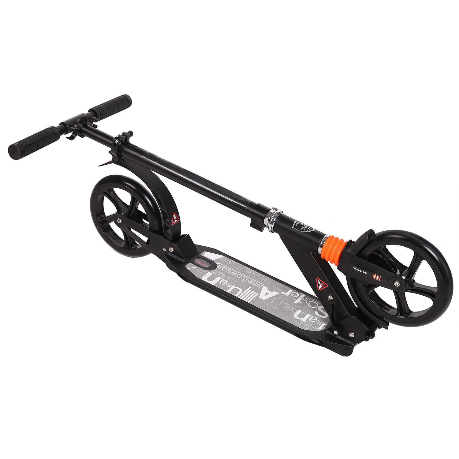 Scooter Sturdy Lightweight Height Adjustable Aluminum Alloy T-Style Foldable Design Adults 2
