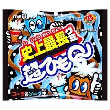 Meiji明治超長QQ軟糖-可樂蘇打(29g) · 明治 超??Q 1本入 ???&???味