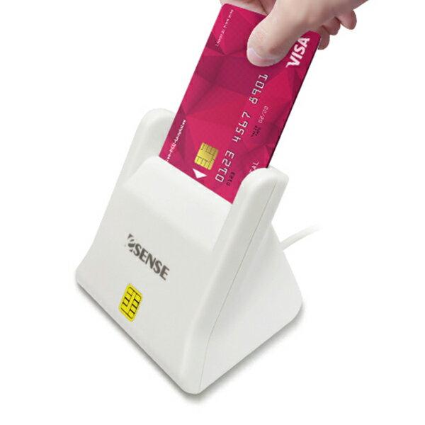 Esense CR11 ATM 直立式晶片讀卡機(17-SCR110WH)白色