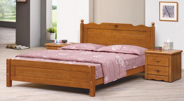 【石川家居】 EF-100-1 歐風5尺樟木色雙人床架 (不含其他商品) 大需搭配車趟