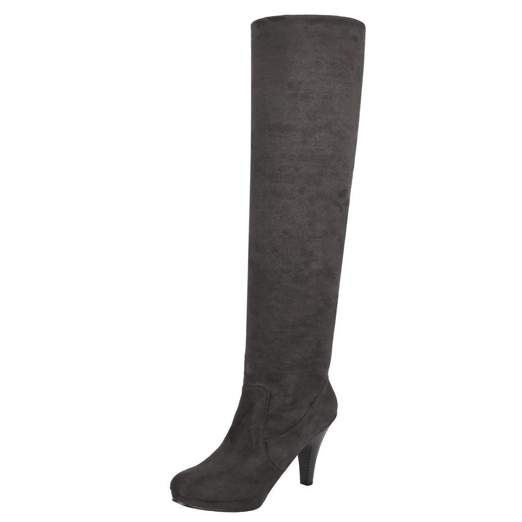 Women Over Knee Thigh High Stiletto Heel Platform Stretch Boot Size 36-39 0