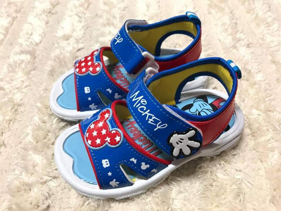 【Jolove】卡通童鞋/DISNEY迪士尼/米奇輕便涼鞋463801 藍色