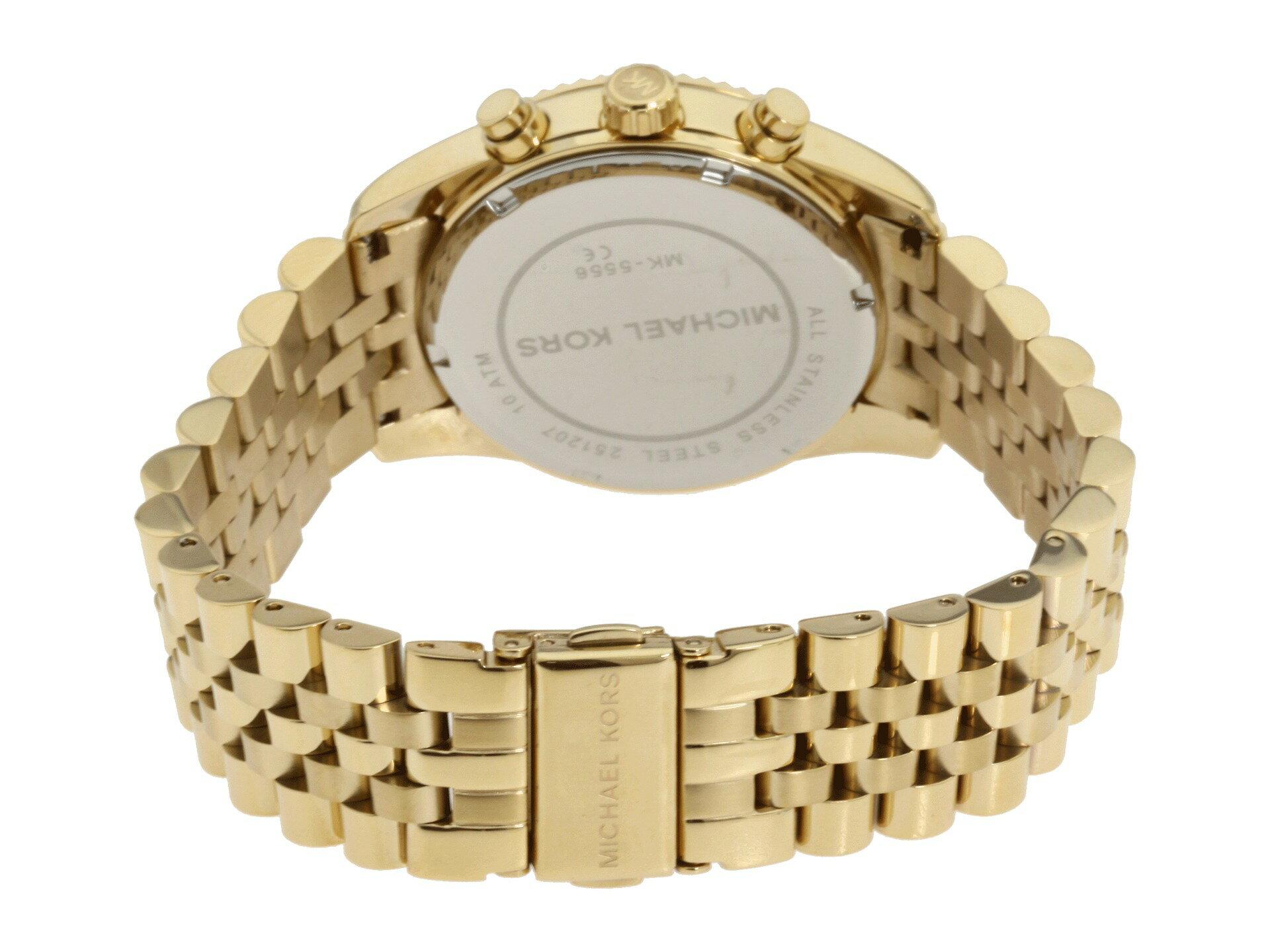 美國Outlet正品代購 MichaelKors MK  男女中性金色鋼帶錶 手錶 MK5556 3