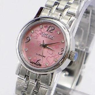 《好時光》OMAX 歐瑪士 愛戀之心3.6.9.12 水鑽時刻時尚女錶-粉紅-水晶鏡面
