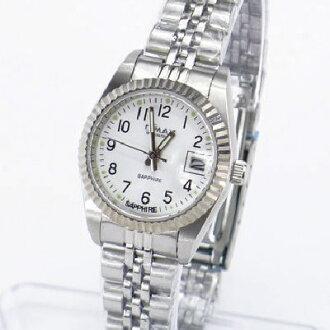 《好時光》OMAX 毆瑪士 白色清晰數字(日期窗)時尚女錶-藍寶石水晶鏡面