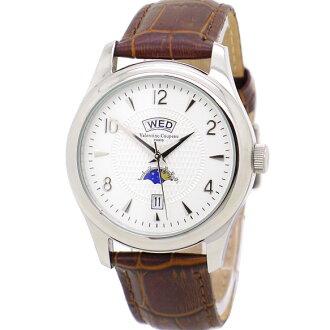 《好時光》Valentino 范倫鐵諾 品味卓越 三視窗顯示 日夜星辰/星期/日期 時尚男錶-皮錶帶