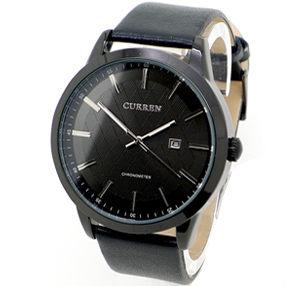 CURREN 金色年代 文青 日期 質感紋路面盤 大錶面皮革錶 手錶 男錶 《好時光》