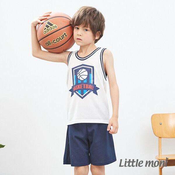 Littlemoni運動背心套裝-白色