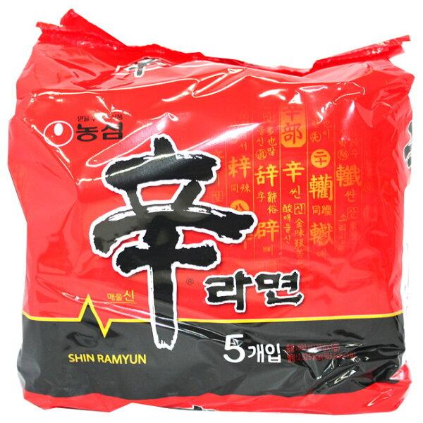 餅之鋪食品暢貨中心:韓(水貨)農心辛拉麵-5入