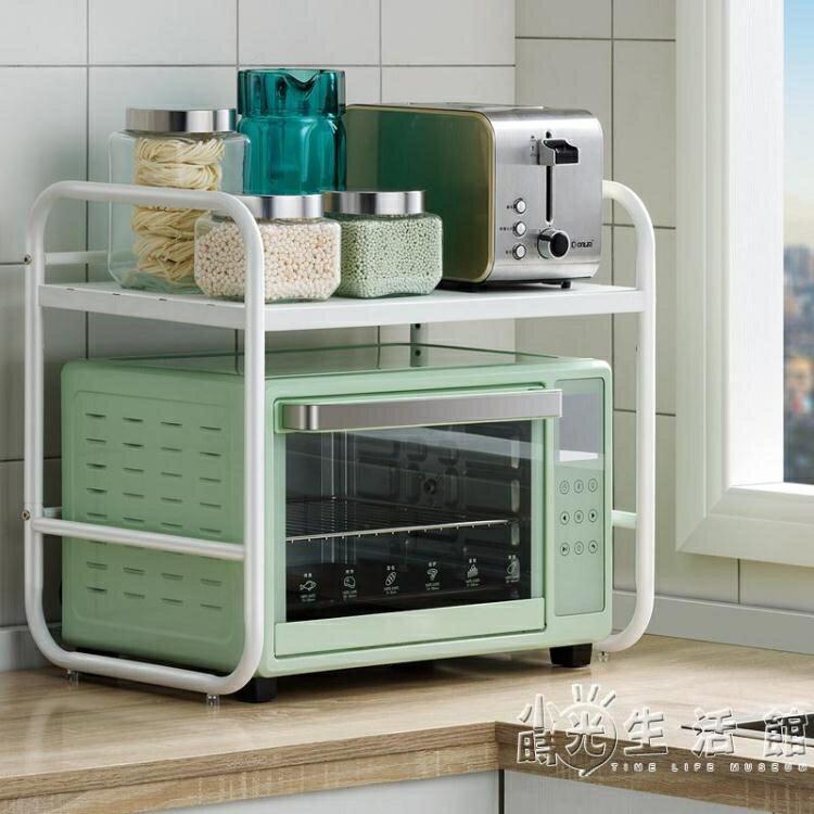 不銹鋼廚房置物架微波爐架子桌面放電飯煲烤箱收納架臺面家用雙層