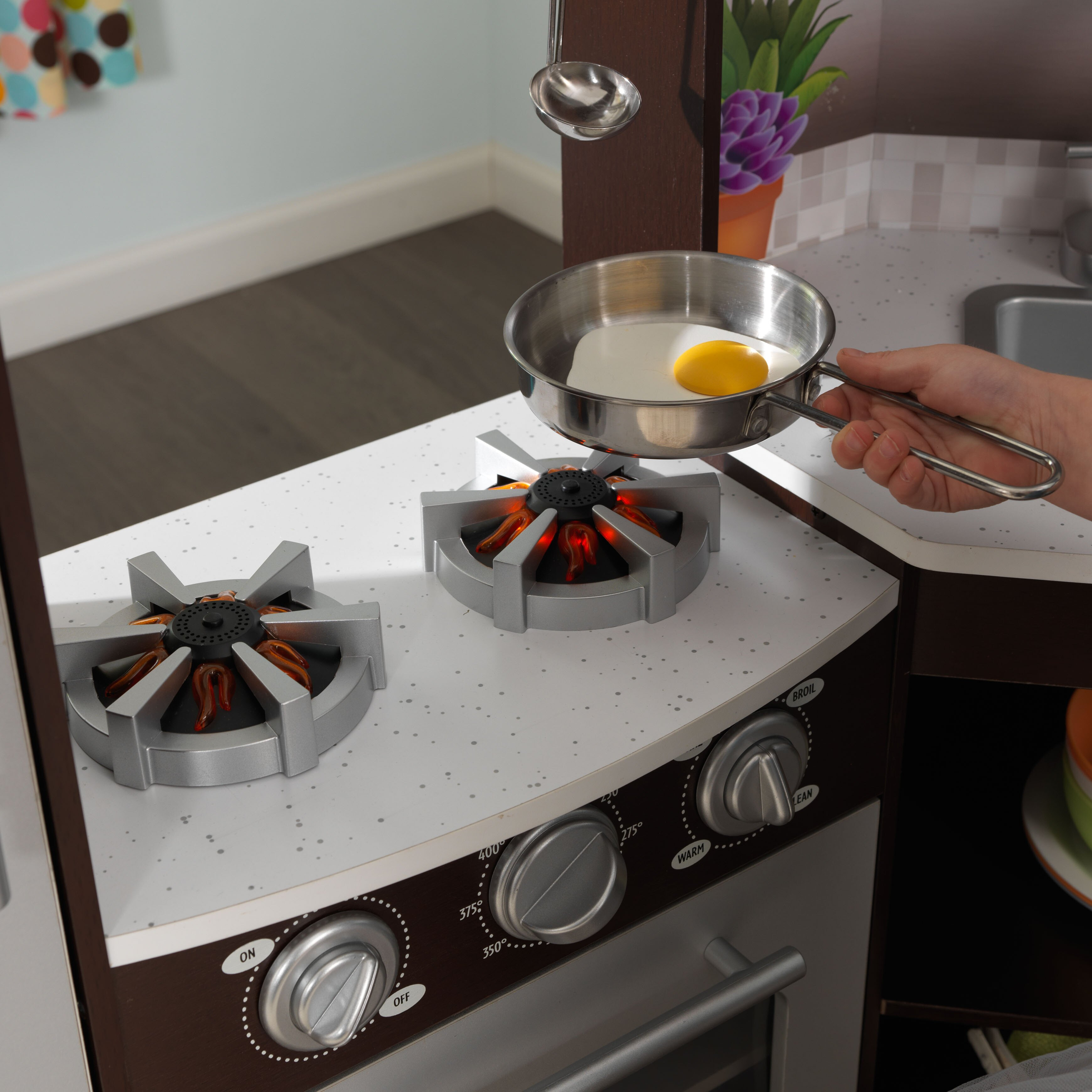 Ultimate Corner Play Kitchen with Lights & Sounds - Espresso, by KidKraft
