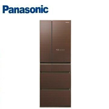 Panasonic 國際牌 NR-F503HX 六門變頻玻璃冰箱 (500L) (翡翠棕) ※熱線:07-7428010