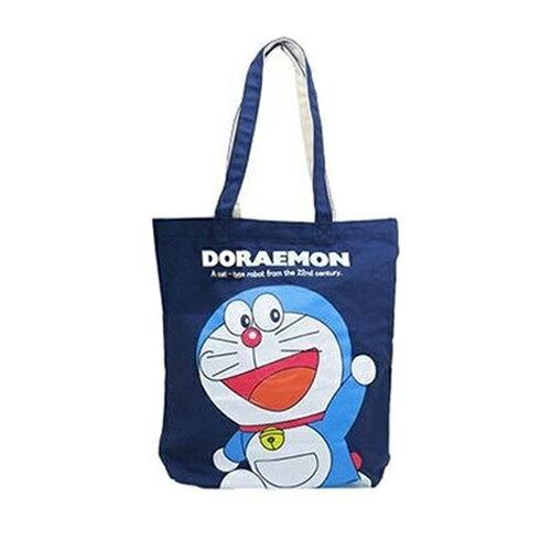 sightme看過來購物城:深藍款【日本進口】哆啦a夢DORAEMON帆布托特包肩背袋手提袋小叮噹-170265