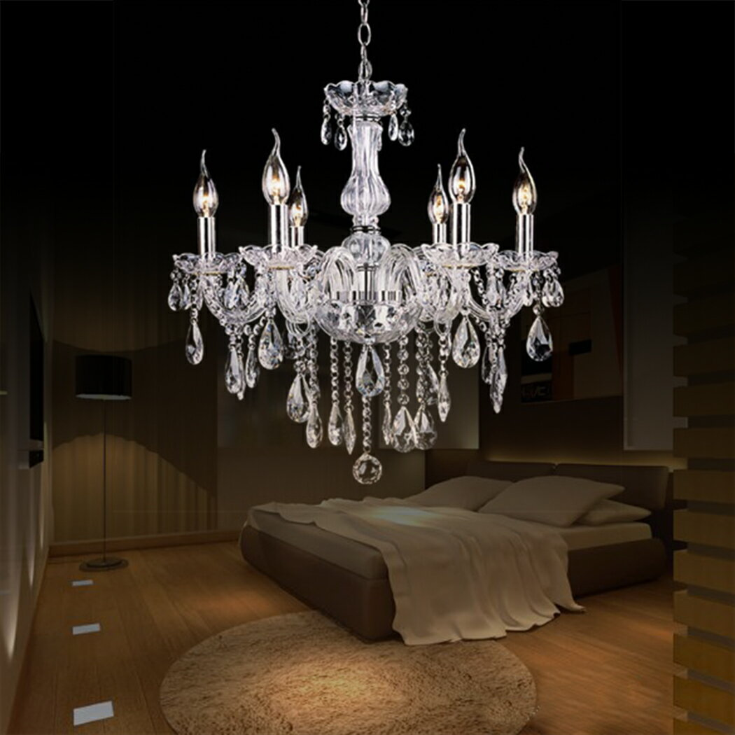 Crystal Lamp Fixture Pendant Light Ceiling Chain Candle Chandelier 1