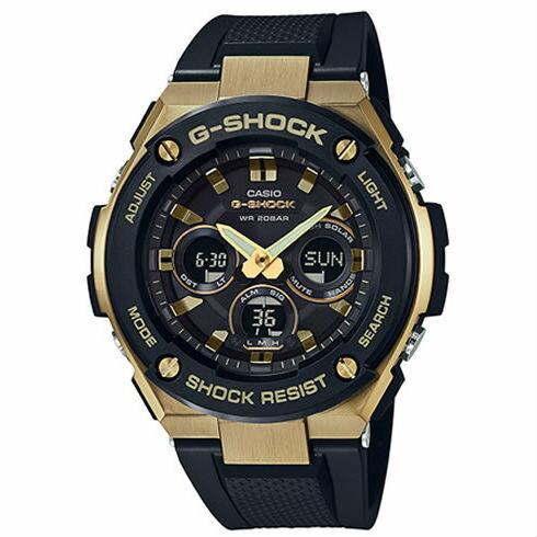 CASIOG-SHOCKGST-S300G-1A9絕對強悍時尚雙顯多功能腕錶50mm