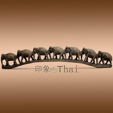 大象過河桌面擺件工藝品個性裝飾品生日禮物小工藝品大象木雕